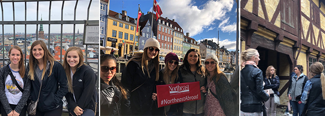 Northeast students visiting Denmark in 2018.