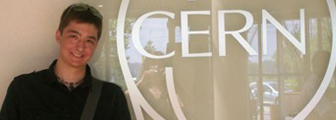 Northeast student who visited CERN headquarters in Switzerland.