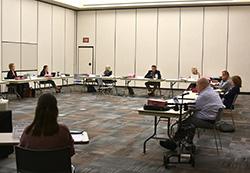 Northeast board members keep their distance