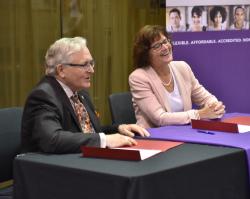 Northeast and Bellevue University renew partnership agreement