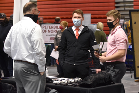 Over 200 students meet with potential employers at Spring Career Fair