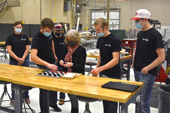 Manufacturing club students create new take on classic board game