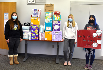 Early Childhood Education Club members conduct service projects as part of their learning