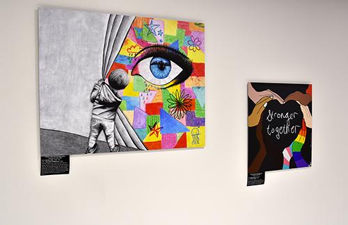 Student diversity artwork on display at Northeast