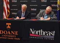 Northeast signs articulation agreement with Doane University