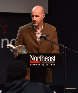 Author Doolittle reads from his works at Northeast