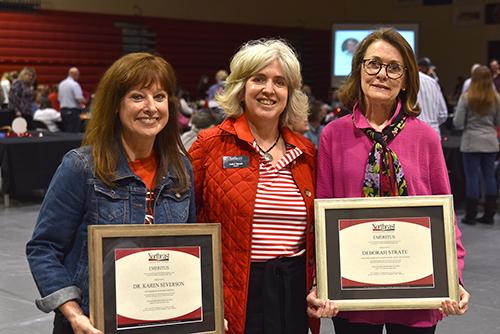Retirees recognized; Severson, Strate conferred with emeritus status