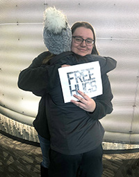 Free hugs and high fives