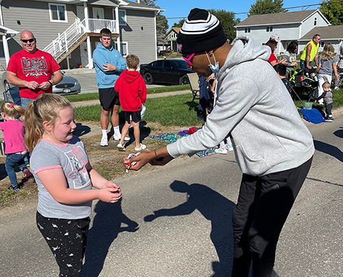 Northeast student-athletes participate in Norfolk Lions Club parade