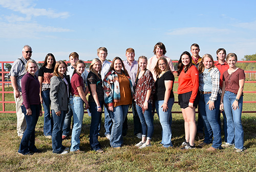 Livestock judging team competes in contests in Kansas and Nebraska