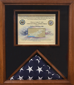 Northeast presented U.S. flag flown over American embassy in Pakistan