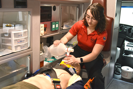Northeast student inspired to provide care as a paramedic