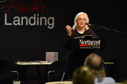 First visiting writer's event of the semester held at Northeast