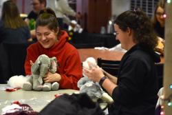 Students have fun in Santa's Workshop