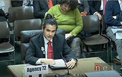 Northeast student testifies before state lawmakers