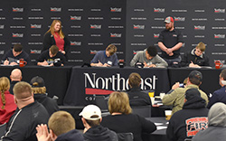 Students sign academic letters of intent with Northeast