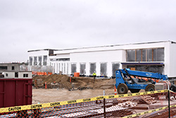 Work continues on Northeast's new campus 'living room'