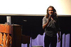 Rock band leader discusses human trafficking at Northeast